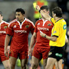 A high tackle from Lifeimi Mafi on Rob Kearney resulted in the Munster centre being sin-binned by referee Jerome Garces