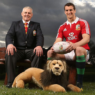 Warren Gatland and Lions captain Sam Warburton