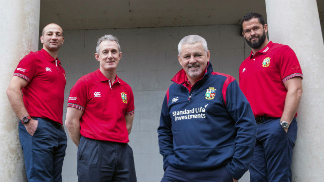 Gatland Announces Lions Coaching Team