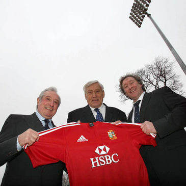 Gareth Edwards, Willie John McBride and Mike Teague