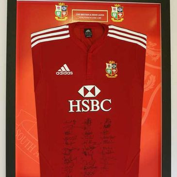 An exclsuive signed Lions jersey