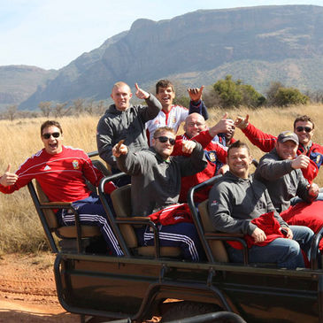 The Lions players enjoy their time in the Entabeni Game Reserve