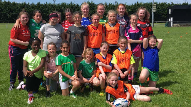 The girls in Longford RFC