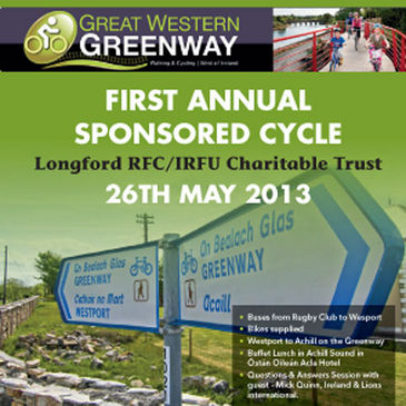 Longford RFC's Greenway cycle for the IRFU Charitable Trust