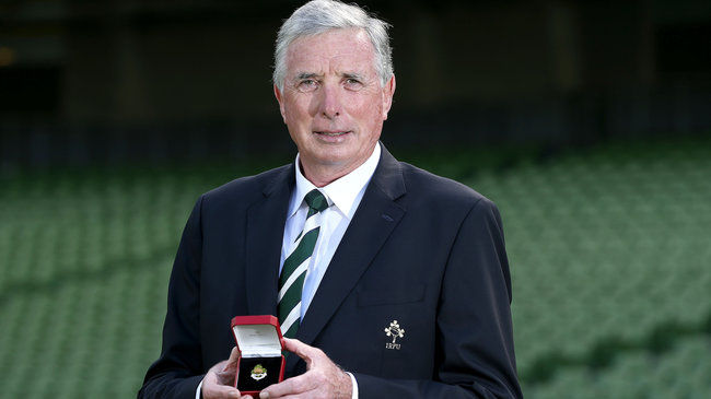 Newly-elected IRFU President Louis Magee