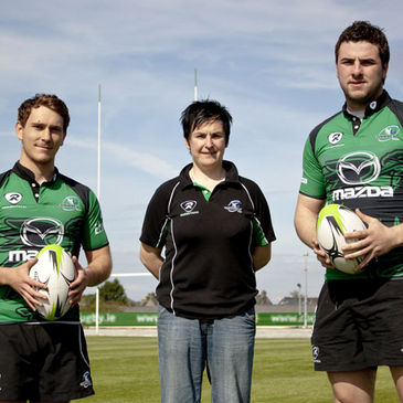 Connacht's James Loxton, Emer O'Dowd and Dave Nolan
