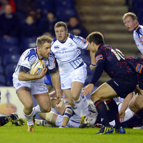 Luke Fitzgerald in action against Edinburgh