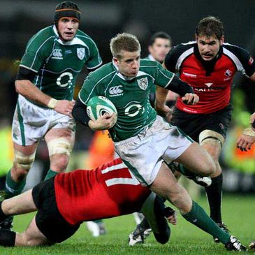 Luke Fitzgerald in action against Canada