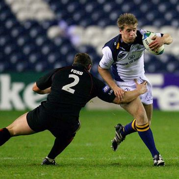 Luke Fitzgerald in action for Leinster against Edinburgh
