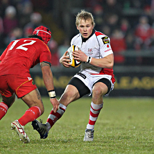 Ulster's Luke Marshall in action against Munster