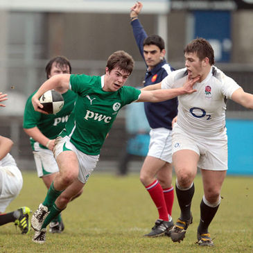 Luke McGrath makes a break for the Ireland Schools team