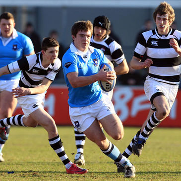 Luke McGrath in action for St. Michael's College