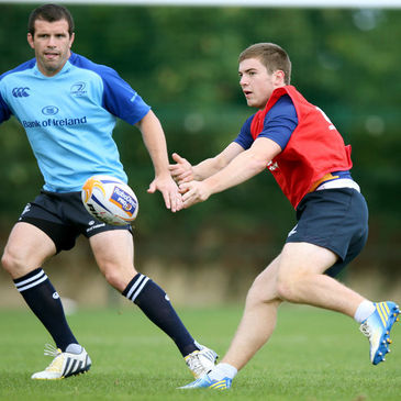 Luke McGrath training with the Leinster squad