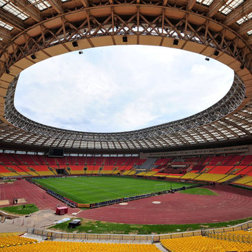 The Luzhniki Stadium in Moscow