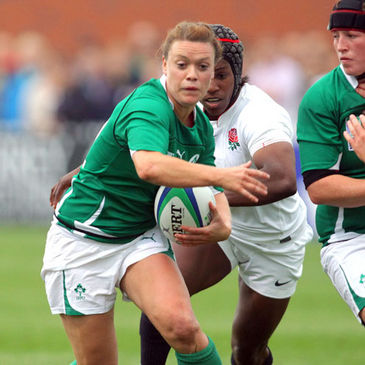 Lynne Cantwell in action for Ireland