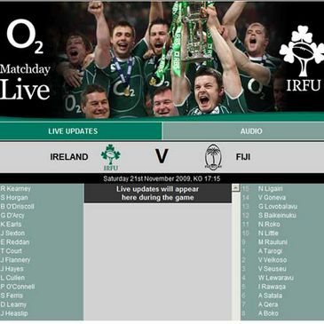 Follow Ireland v Fiji on IrishRugby.ie