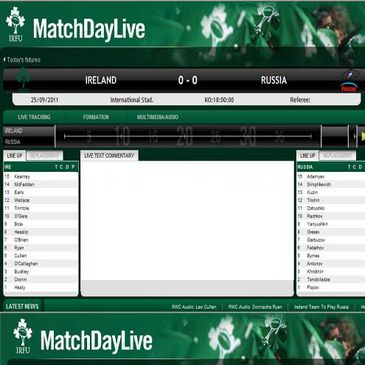 RWC MatchDay Live on IrishRugby.ie