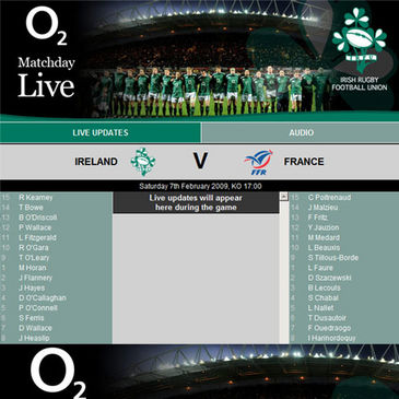 Join us on IrishRugby.ie for coverage of Ireland v France
