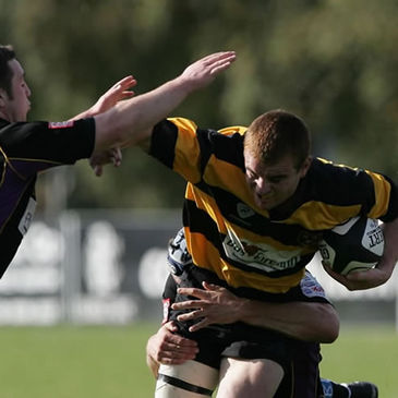 Team captain Derek Corcoran on the charge for Young Munster