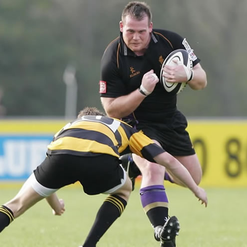 instonians prop Chris Schofield on the charge