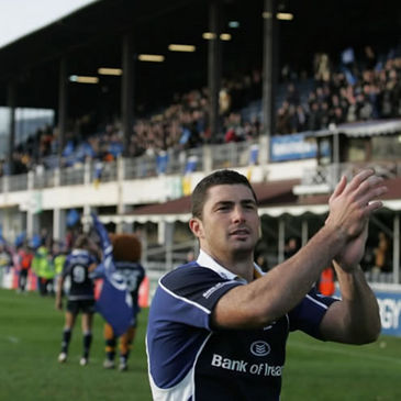 Leinster winger Rob Kearney applauds the fans after a job well done