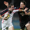 Ulster's Paddy Wallace tries to set up an attack for the home side