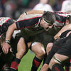 A shot of Ireland prop Bryan Young as he scrums down for Ulster during their six-point Magners League loss to Edinburgh