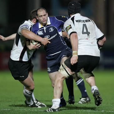 Leinster's Felipe Contepomi on the attack against Edinburgh