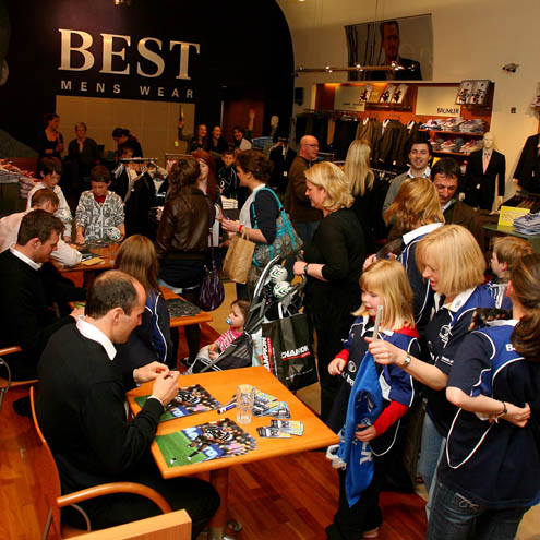 A view of the Leinster signing session in BEST Menswear