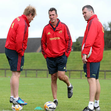 Munster's Simon Mannix, Rob Penney and Anthony Foley