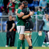 Marcus Horan and Connacht skipper John Muldoon embrace each other after referee Peter Fitzgibbon's final whistle