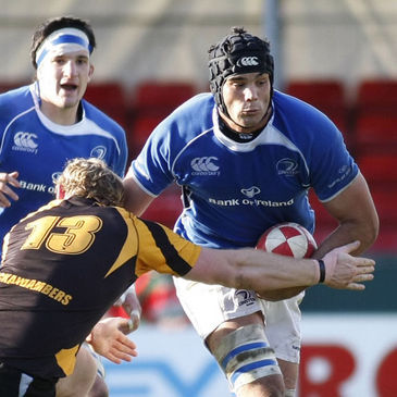 Leinster lock Mariano Galarza in action against Newport