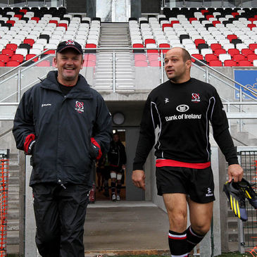 Ulster's Mark Anscombe and Rory Best