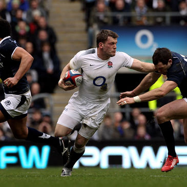 England's Mark Cueto in action against Scotland