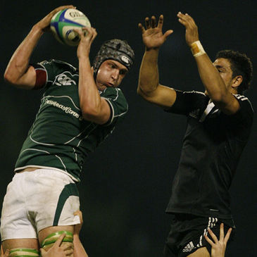 Mark Flanagan secures lineout possession for Ireland