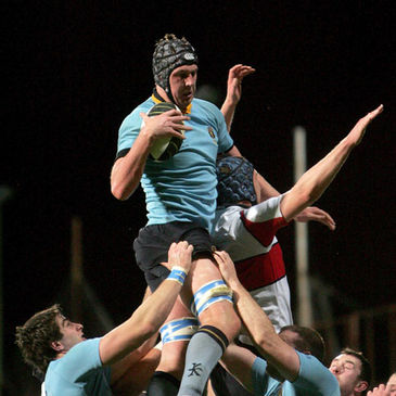 UCD lock Mark Flanagan secures lineout possession