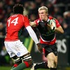 Ulster winger Marck McCrea tries to fend off Portugal's Aderito Esteves as he carries forward