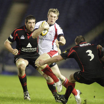 Mark McCrea takes the ball on for Ulster
