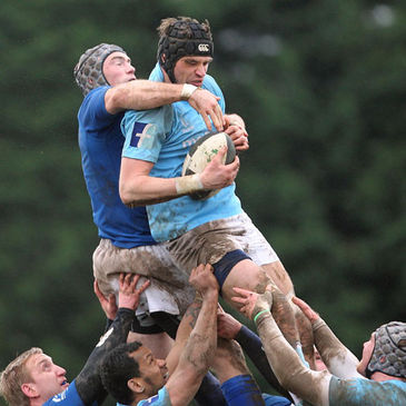 Mark Melbourne secures possession for Garryowen