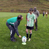 Ireland's kicking coach Mark Tainton passes on some tips during the coaching clinic at New Plymouth Boys High School