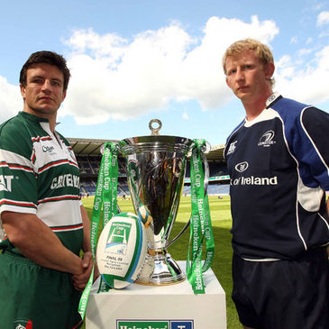 Leicester club captain Martin Corry and Leinster captain Leo Cullen
