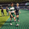 Martin Corry and Leo Cullen wished each other good luck as they finished up the photocall at Murrayfield