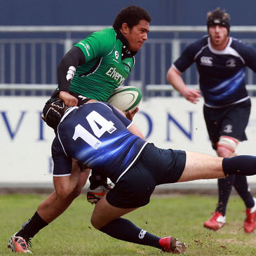 Mata Fifita in possession for Connacht