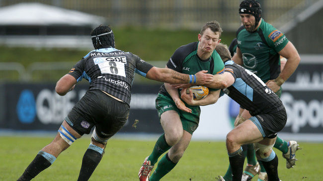 Matt Healy in action against Glasgow Warriors