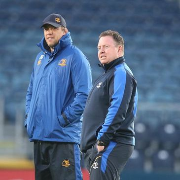Leinster's Jono Gibbes and Matt O'Connor
