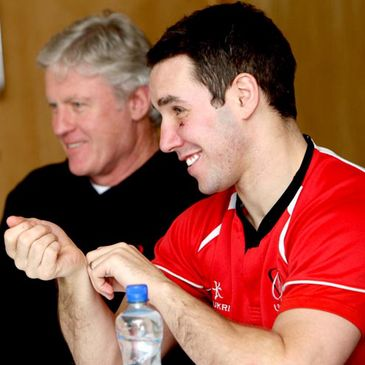 Matt Williams and Paddy Wallace at an Ulster press conference