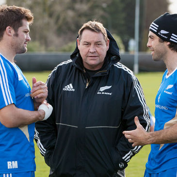 New Zealand's Richie McCaw, Steve Hansen and Conrad Smith
