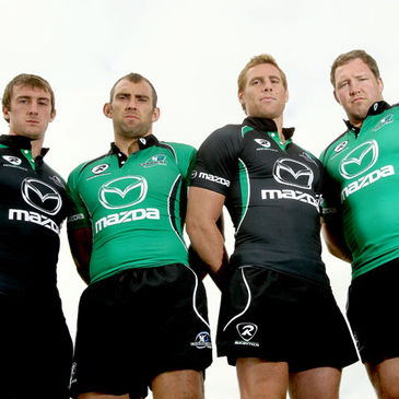 Connacht's Mark McCrea, John Muldoon, Gavin Duffy and Michael Swift