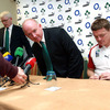 Before the management and players headed to the airport, Paul McNaughton, Declan Kidney and Brian O'Driscoll took part in a final press conference on Irish soil