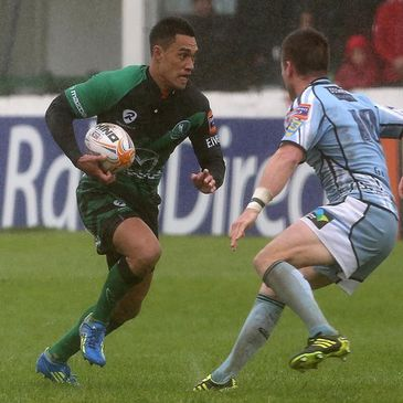 Miah Nikora in action for Connacht against the Cardiff Blues